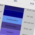 Таблица цветов HTML и CSS