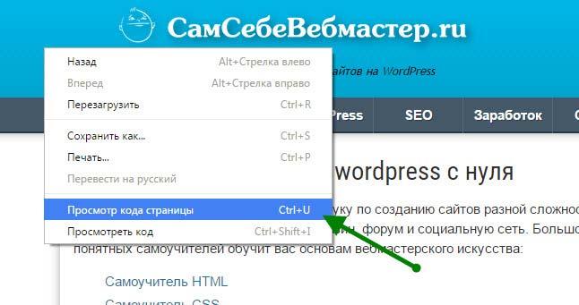 Как просмотреть весь HTML код сайта в браузере