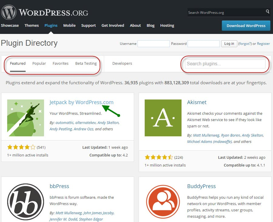Wordpress.org/plugins